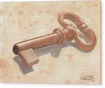 Skeleton Key Wood Print by Ken Powers