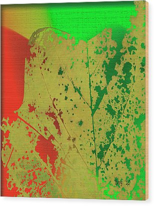 Wood Print featuring the photograph Skeleton Leaf by Larry Bishop