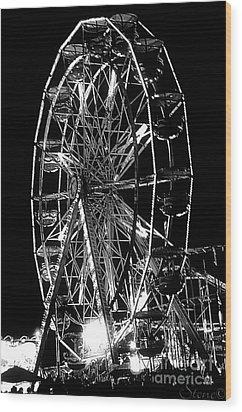 Skeleton Wheel   Wood Print
