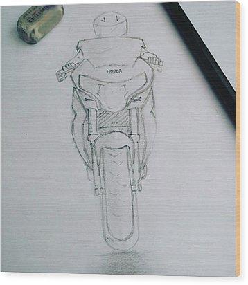 Sket Cbr250r #cbr250r Wood Print