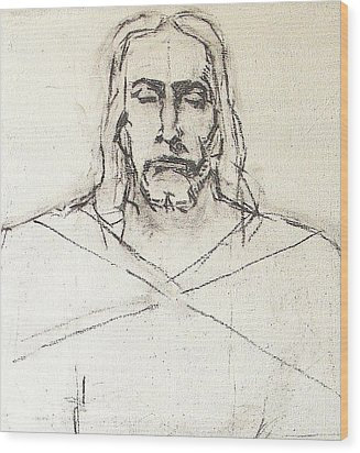 Sketch A Of Christ Wood Print