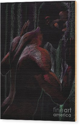 Wood Print featuring the drawing sketch for Thwarted by Robert D McBain