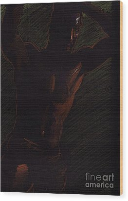 Wood Print featuring the drawing Sketch Number Twelve by Robert D McBain