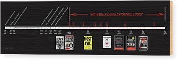 Skh Black Dahlia Inv. Time Line Wood Print