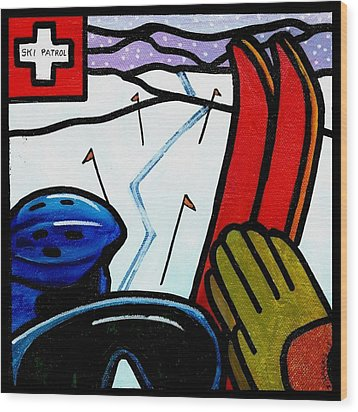 Ski Patrol Wood Print by Jim Harris