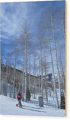 Ski Patrol Wood Print