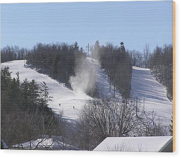 Ski Slope Wood Print by Richard Mitchell