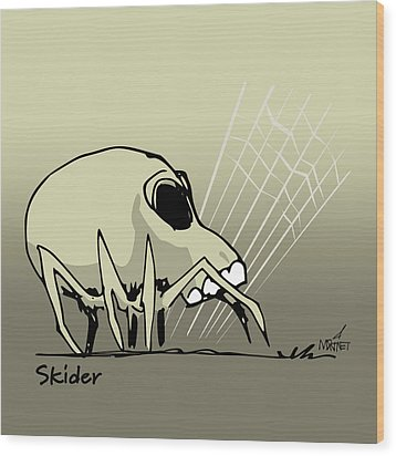 Skider Wood Print