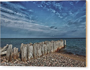 Wood Print featuring the photograph Skies Of Superior by Rachel Cohen