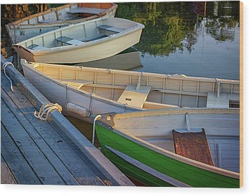 Wood Print featuring the photograph Skiffs In Tenants Harbor by Rick Berk