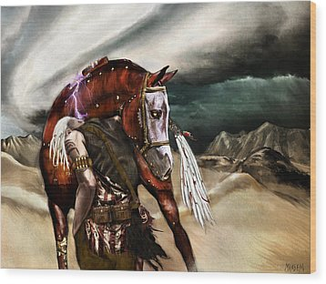Skin Horse Wood Print by Mandem