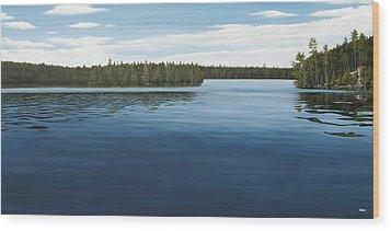 Skinners Bay Muskoka Wood Print by Kenneth M  Kirsch