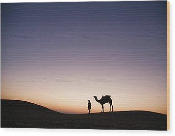 Skn 0860 Dawn At The Dunes Wood Print by Sunil Kapadia