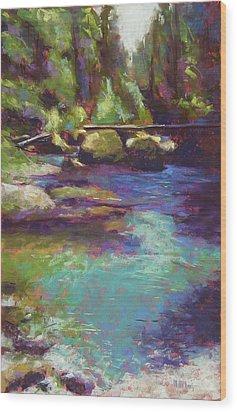 Skokomish River Wood Print by Mary McInnis