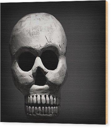 Skull Wood Print by Joseph Skompski