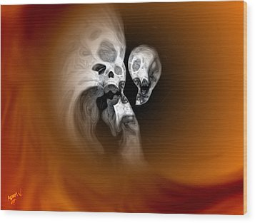 Skull Scope 2 Wood Print
