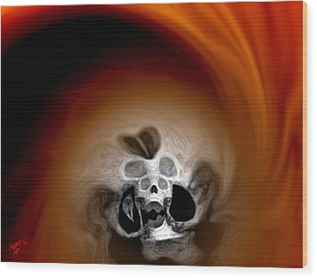 Skull Scope 3 Wood Print