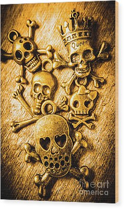 Wood Print featuring the photograph Skulls And Crossbones by Jorgo Photography - Wall Art Gallery