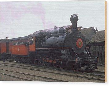 Skunk Train No 45 Fort Bragg California Wood Print by Brian Lockett