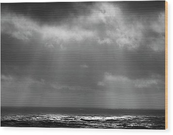 Wood Print featuring the photograph Sky And Ocean by Ryan Manuel