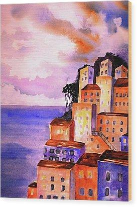 Sky At Dusk  Wood Print by Carlin Blahnik