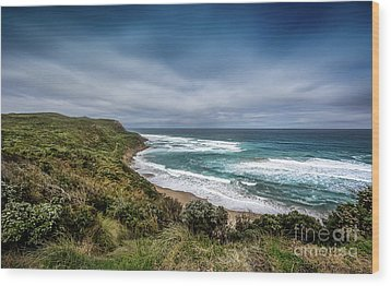 Wood Print featuring the photograph Sky Blue Coast by Perry Webster
