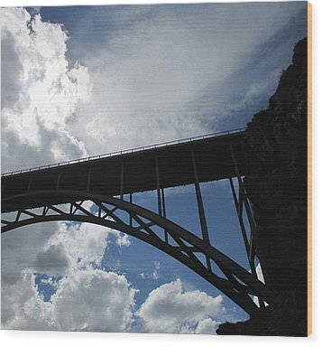 Sky Bridge Wood Print