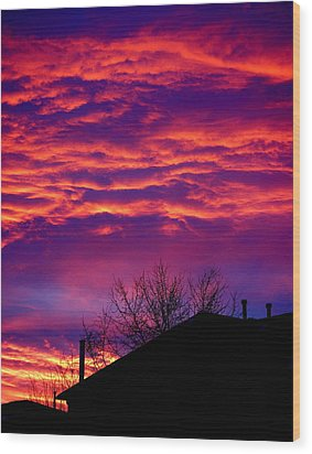 Wood Print featuring the photograph Sky Drama by Valentino Visentini