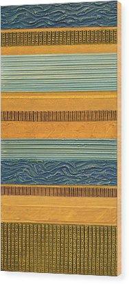 Sky Earth Water  Wood Print by Michelle Calkins