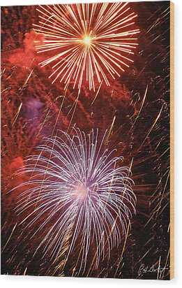 Sky Explosion Wood Print by Phill Doherty