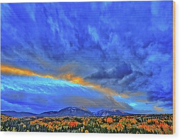 Wood Print featuring the photograph Sky Fall by Scott Mahon