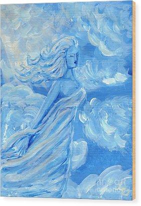 Sky Goddess Wood Print by Cassandra Geernaert