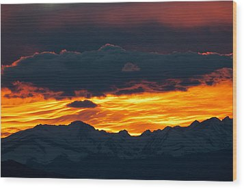 Sky Lava Wood Print by Colleen Coccia