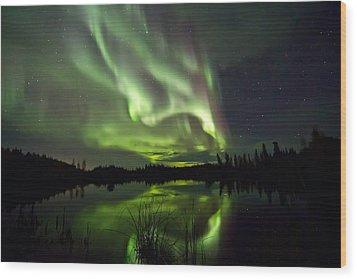Sky Lights Wood Print