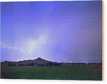 Wood Print featuring the photograph Sky Monster Above Haystack Mountain by James BO Insogna