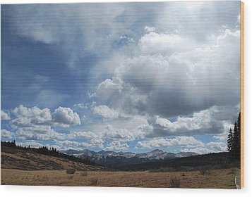 Wood Print featuring the photograph Sky Of Shrine Ridge Trail by Amee Cave