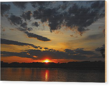 Sky On Fire Wood Print by AnnaJanessa PhotoArt