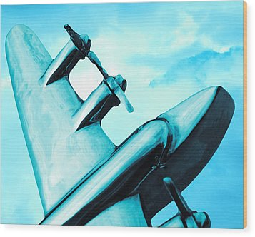 Sky Plane Wood Print by Slade Roberts