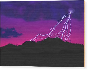 Sky Power Wood Print