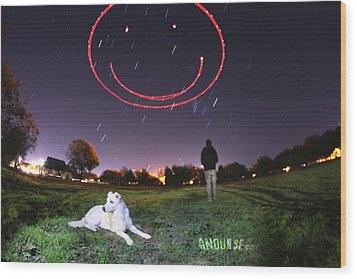 Sky Smile Wood Print