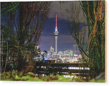 Sky Tower Wood Print