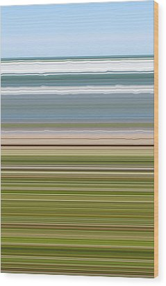 Sky Water Earth Grass Wood Print by Michelle Calkins