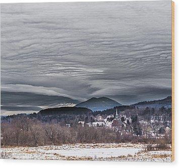 Sky Waves Wood Print