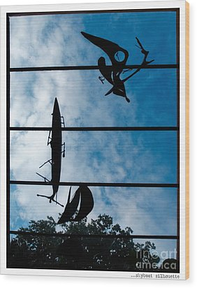 Skyboat Silhouette Wood Print by Jay Taylor