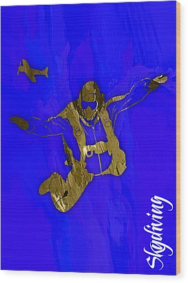 Skydiving Collection Wood Print