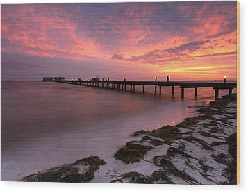 Wood Print featuring the photograph Skyfire - Anna Maria  by Patrick Downey