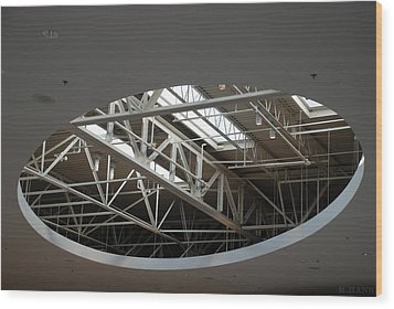 Wood Print featuring the photograph Skylight Gurders by Rob Hans