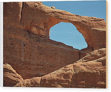 Wood Print featuring the photograph Skyline Arch In Utah by Bruce Gourley