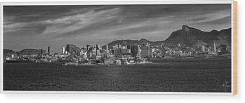 Skyline-centro-rio De Janeiro-brasil Wood Print