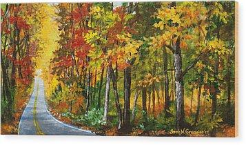 Skyline Drive Wood Print